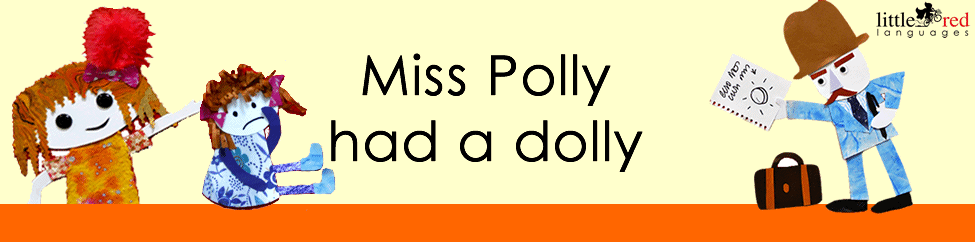 Miss Polly had a Dolly | Nursery Rhyme | Little Red Languages