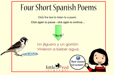Four Spanish Poems Smart Notebook