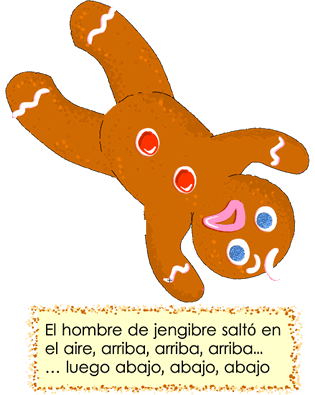 Gingerbread man falling